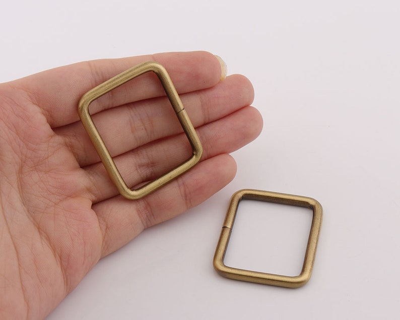 Anti brass rectangular rings bags clasp 12pcs Rectangle