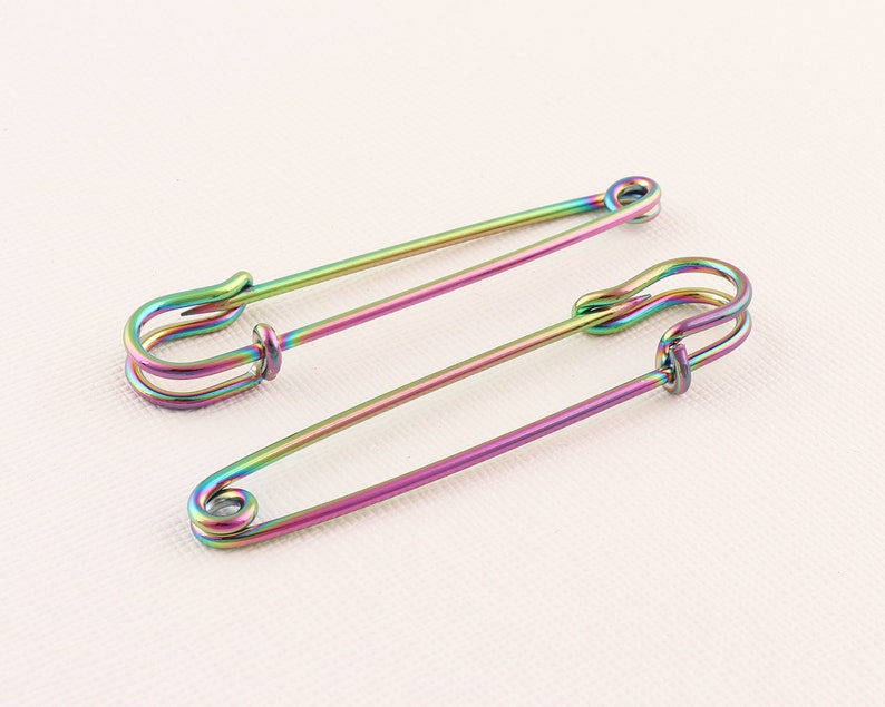 Jewelry Painted Safety Pin 56mmx14mm Jumbo Safety Pins