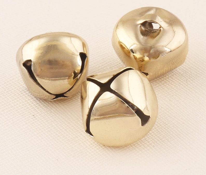 Christmas bells Jingle bells Jewellery bells Light Gold