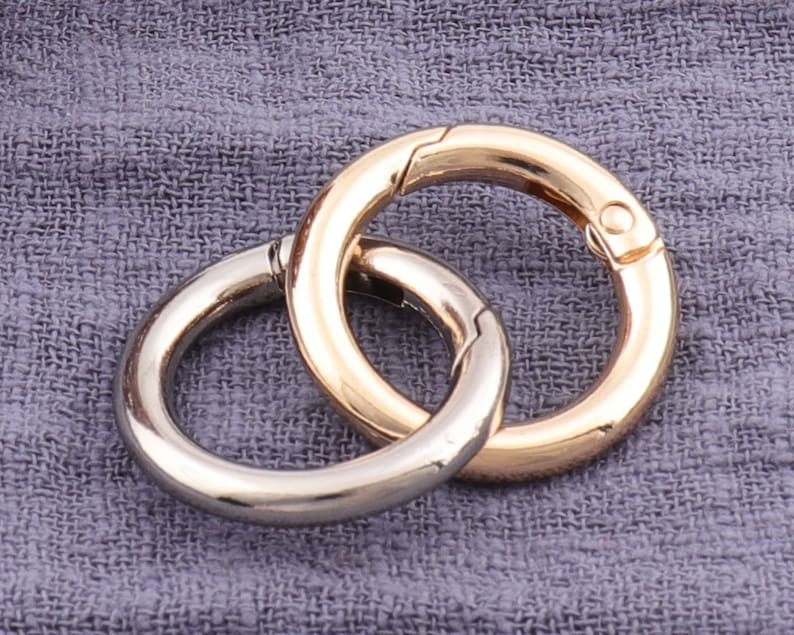 6pcs Gold /Silver Spring Buckle Metal Snap Clasp Trigge