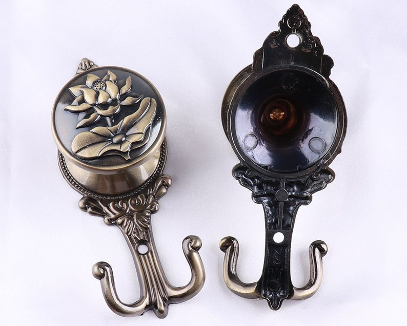14cm Antique Curtain Tie Backs Hook Decorative Hooks