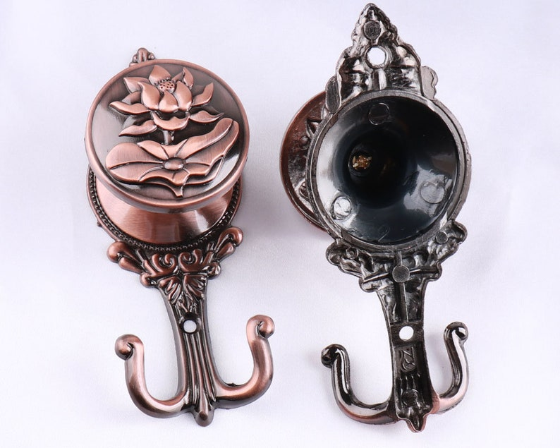14cm Copper Decorative Hooks Antique Curtain Tie Backs