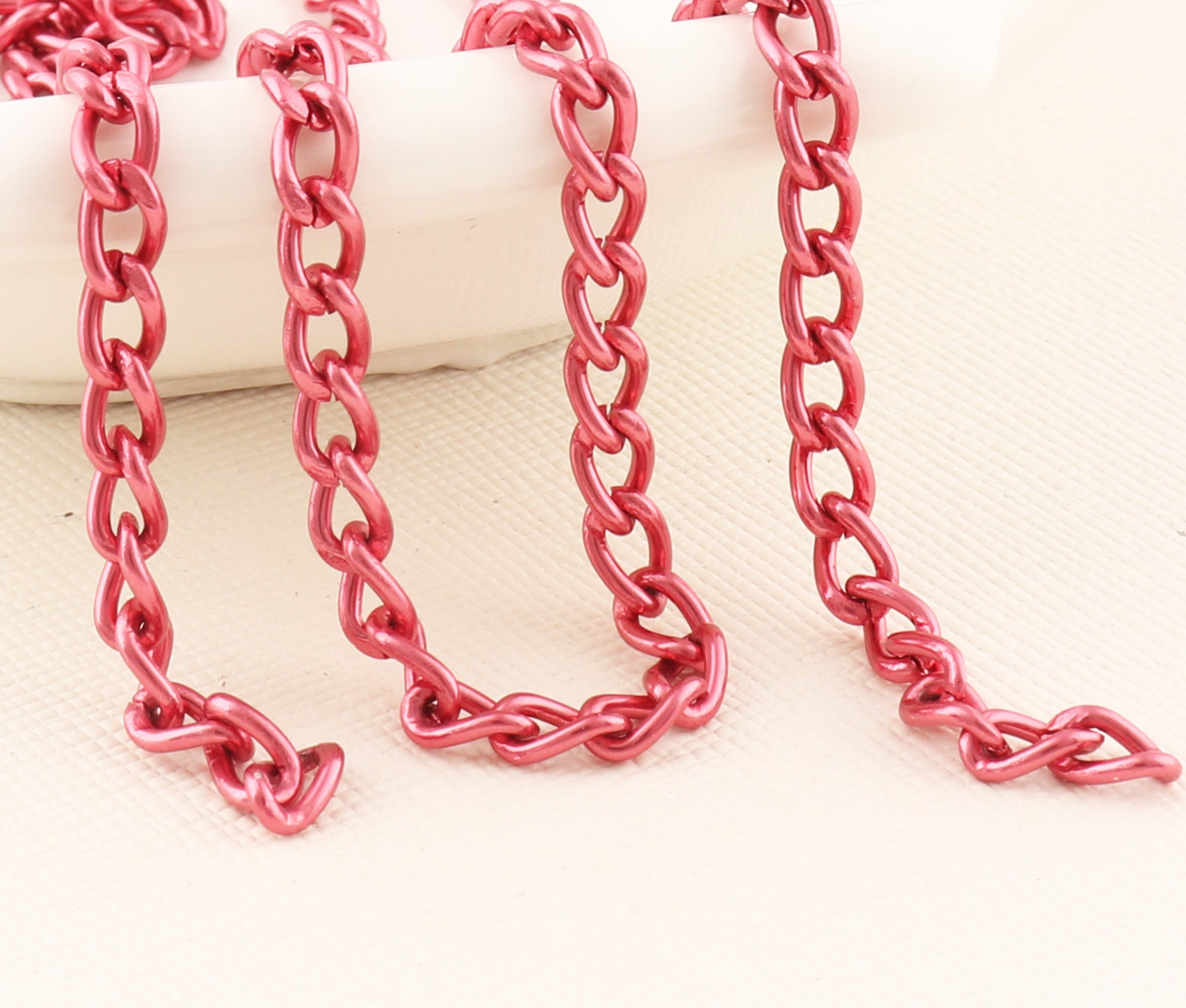 20 FEET Purse Replacement Chains Red bag chain Wallet c