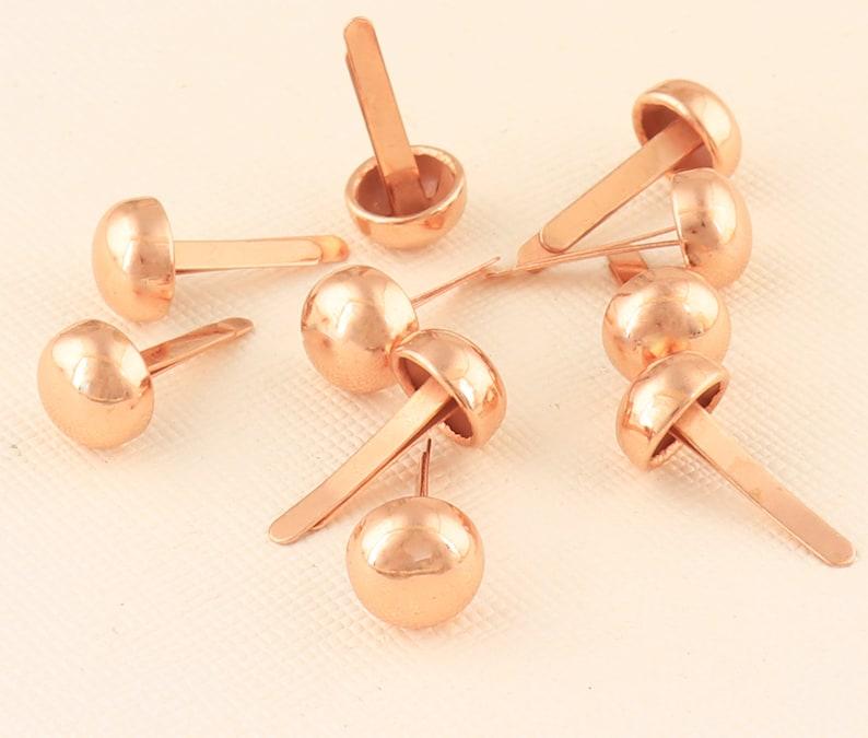 Rose Gold Handbag Nailheads Round Purse Feet Purse fee