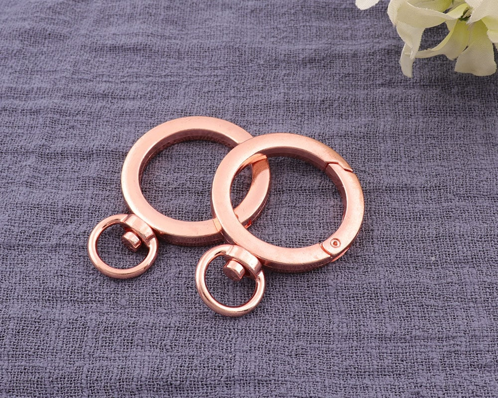 4pcs 10mm Rose Gold Spring Gate Rings Opening Ring Spri