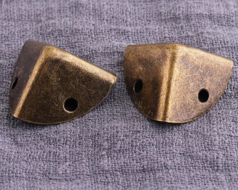20mm Wooden box corner protector Corner Anti brass 12pcs Ornate brass corners and screws,Corner Protectors