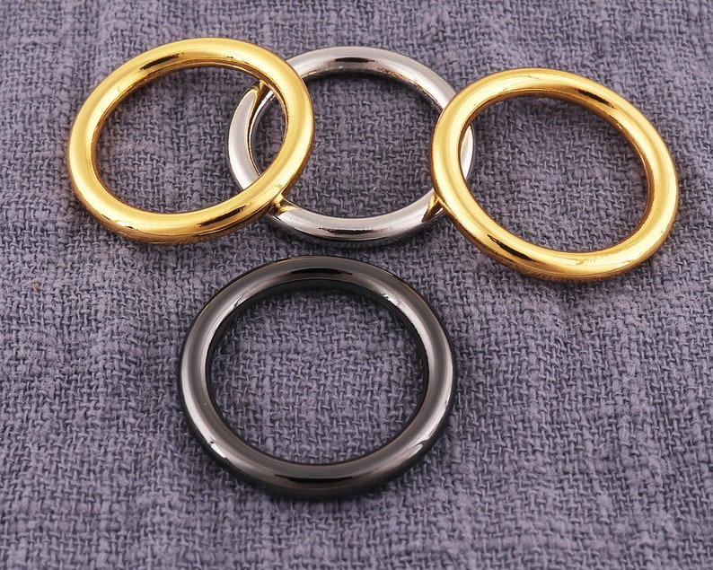 Jump rings GoldSilverGun black Purse ring o ring Round ring Purse strap rings Strap o ring Handbag o ring