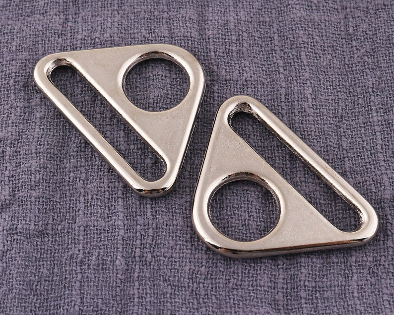 6pcs Metal Strap Sliders be 80 Strap Adjuster Triangle