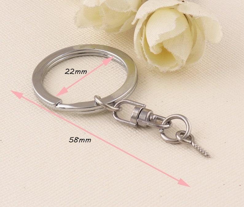 Split Key Ring Chain with Spring Hook Eye Screw Pin Spl