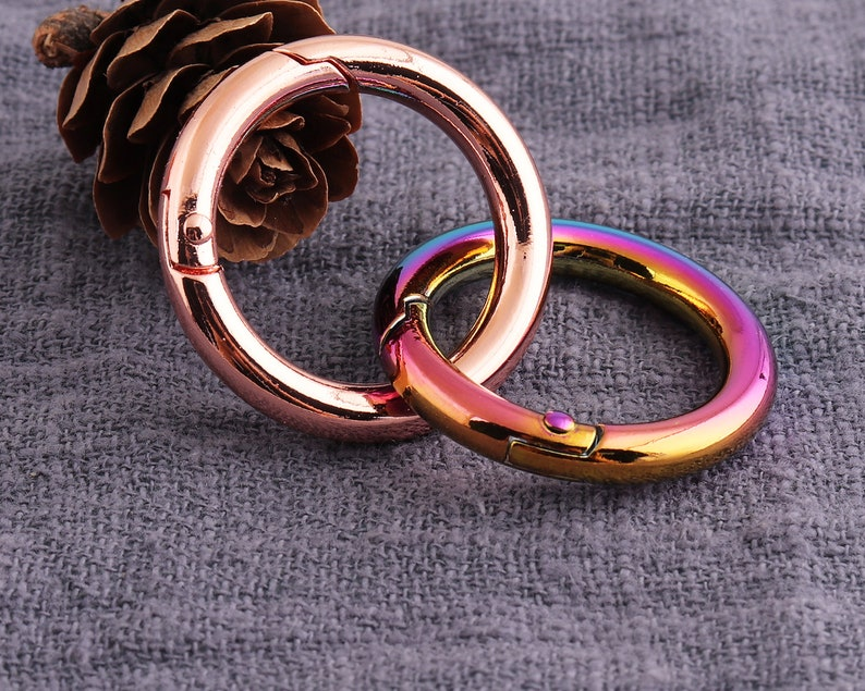 6PCS Round Spring Clasps Open Ring Clasps Round Lobster