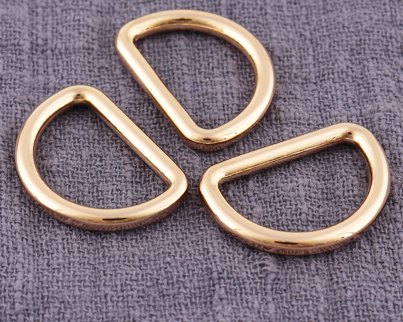 20PCS Gold 20mm Metal adjustment buckle half ring D buc