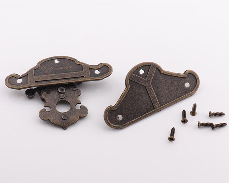 Trunk Hasp box latch Jewelry Box Hasp catch lock 68mm Antique Bronze Latch Rustic Iron Latch