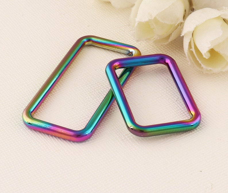 Metal buckle Handbag buckle Handmade buckle Rainbow Rec