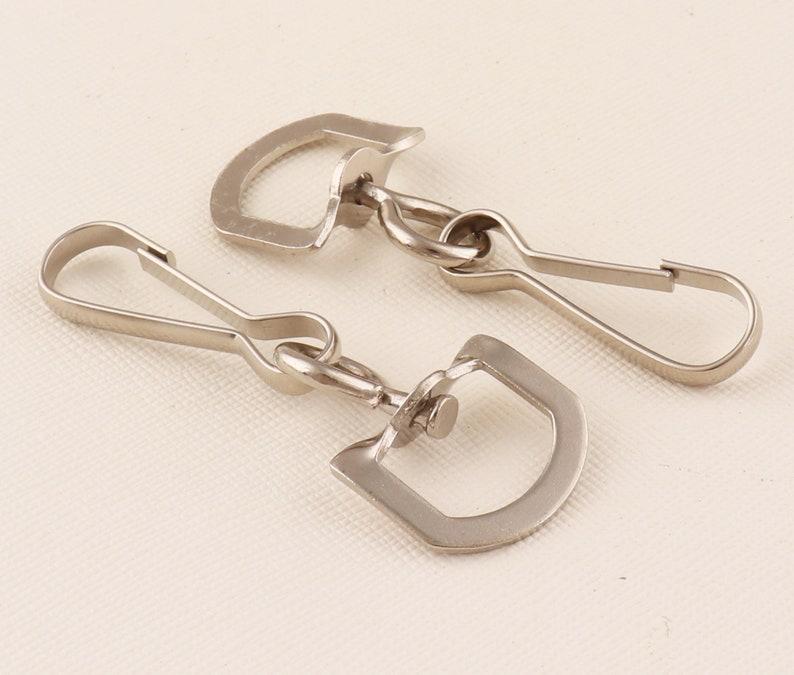 Lanyard Swivel Hook Clips.Silver Lanyard Hook Swivel ho