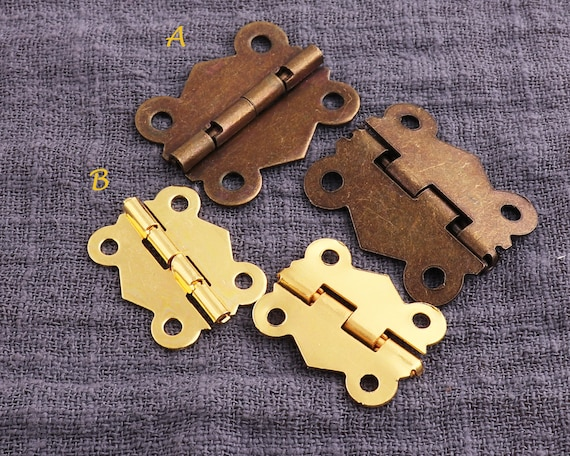 10pcs Mini Brass Plated Hinge Small Decorative-Jewelry Cigar Box Hinges