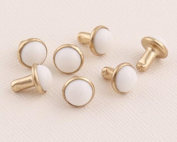 30pcs Round rivet 10mm Crystal Rivets Rivet jewelry White Metal rivet Metal rivet for purse bags Decorative rivets Rivet studs