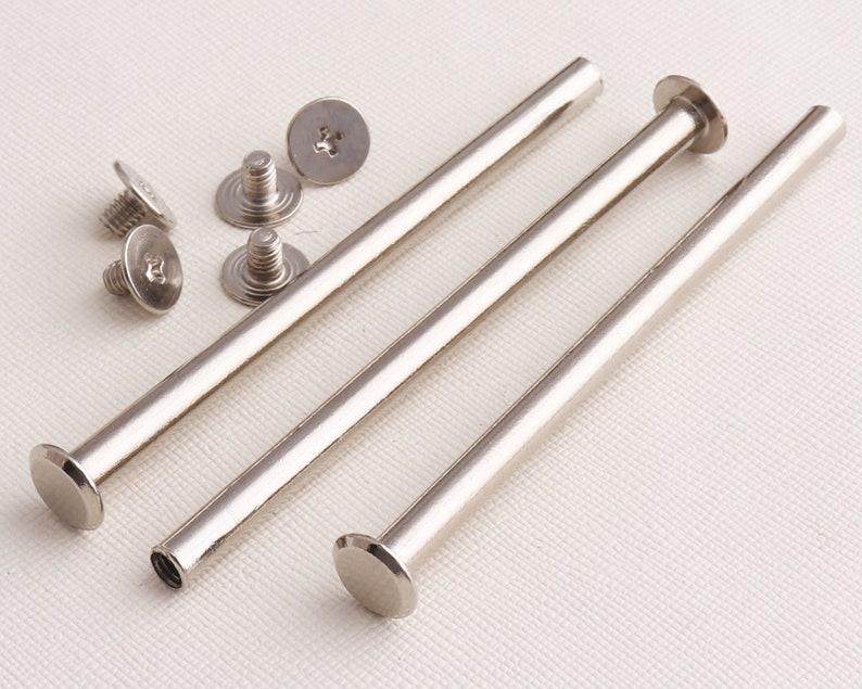 Stud Screw Round Head  Nail Rivet  Button DIY LeatherScrew back stud post head bag fasten snap closure-82mmx9mm*20set
