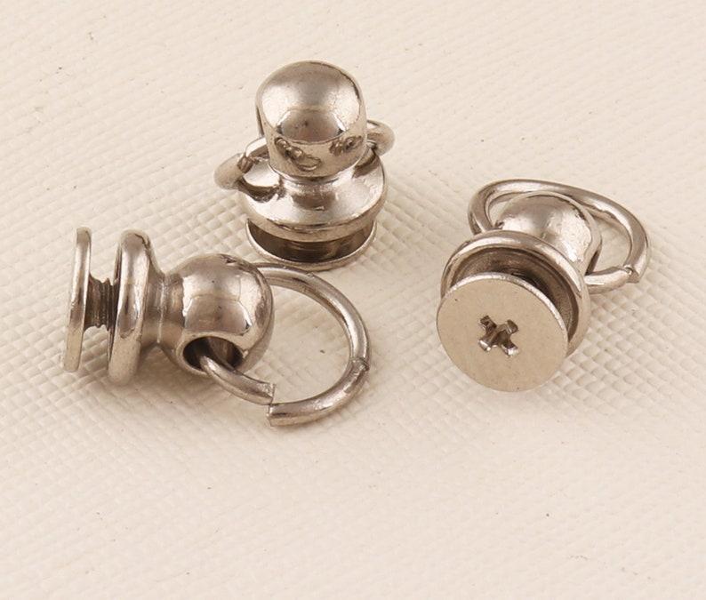 Chain loop Chain attachment screws pull ring 40set Silv