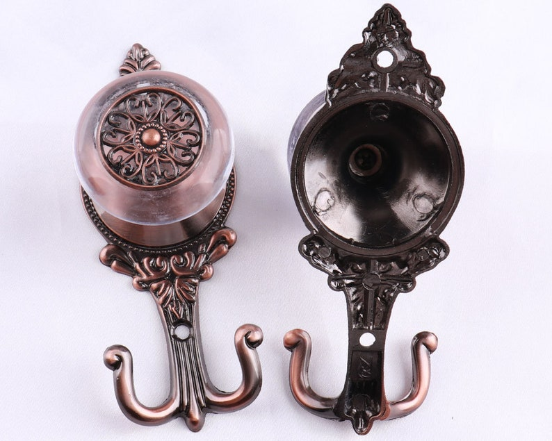 14cm Copper Antique Curtain Tie Backs Hook Metal Europe