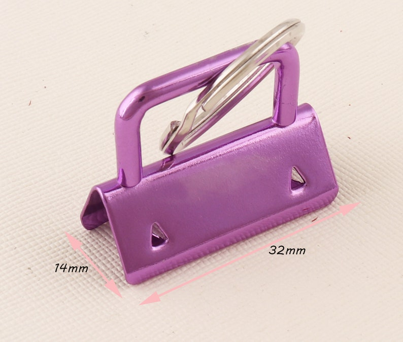 Purple Key Fob Hardware with Key Rings Key fob hardware