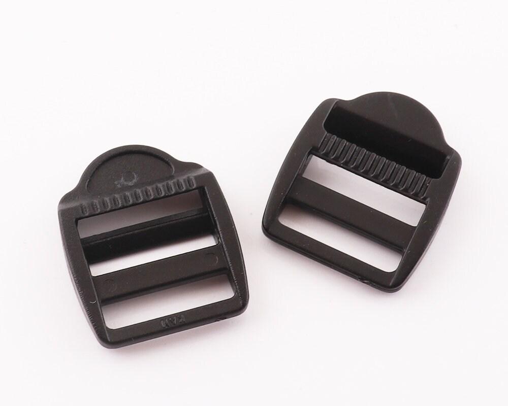 12Pcs 15mm Black Slide Adjuster plastic adjustable buck