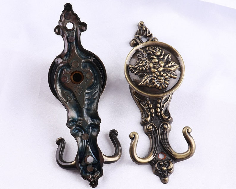 16cm Metal European Wall Hooks Bronze Decorative Hooks