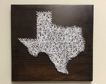 Texas String Art Etsy