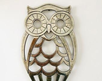 Leonard Silverplate Decorative Owl Trivet