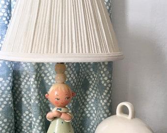Sweet Vintage IRMI Boy's Nursery Lamp Praying Child