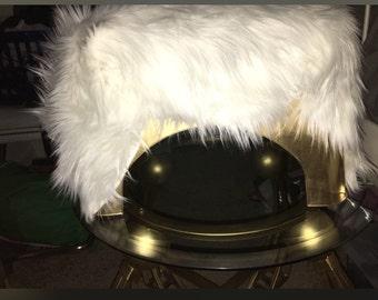 Fur Footstool / Decor