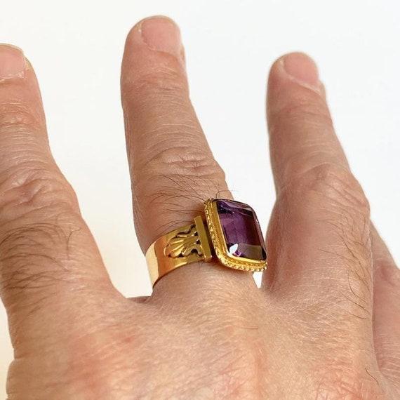 Bishop Ring In 18k Rose Gold - image 4
