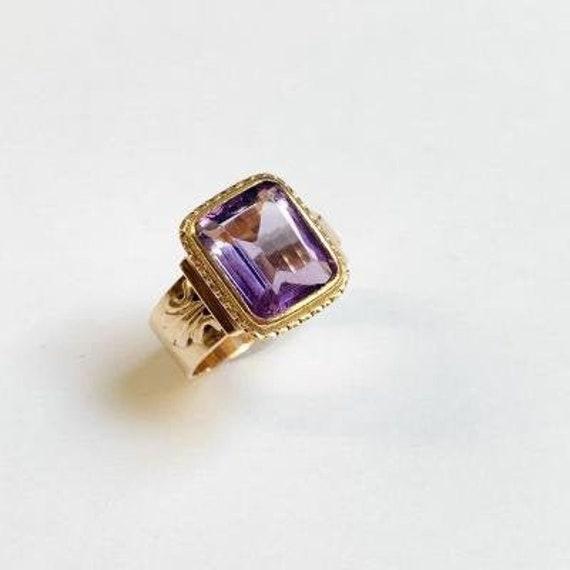 Bishop Ring In 18k Rose Gold - image 1