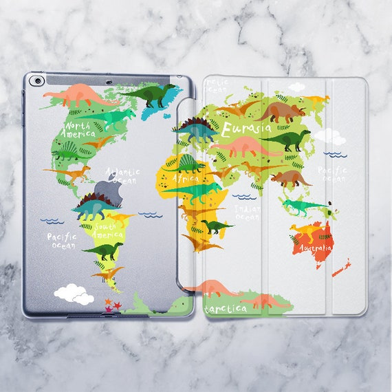 Ipad Dinosaur Case World Map Case Ipad 9 7 Animal Case Ipad Etsy