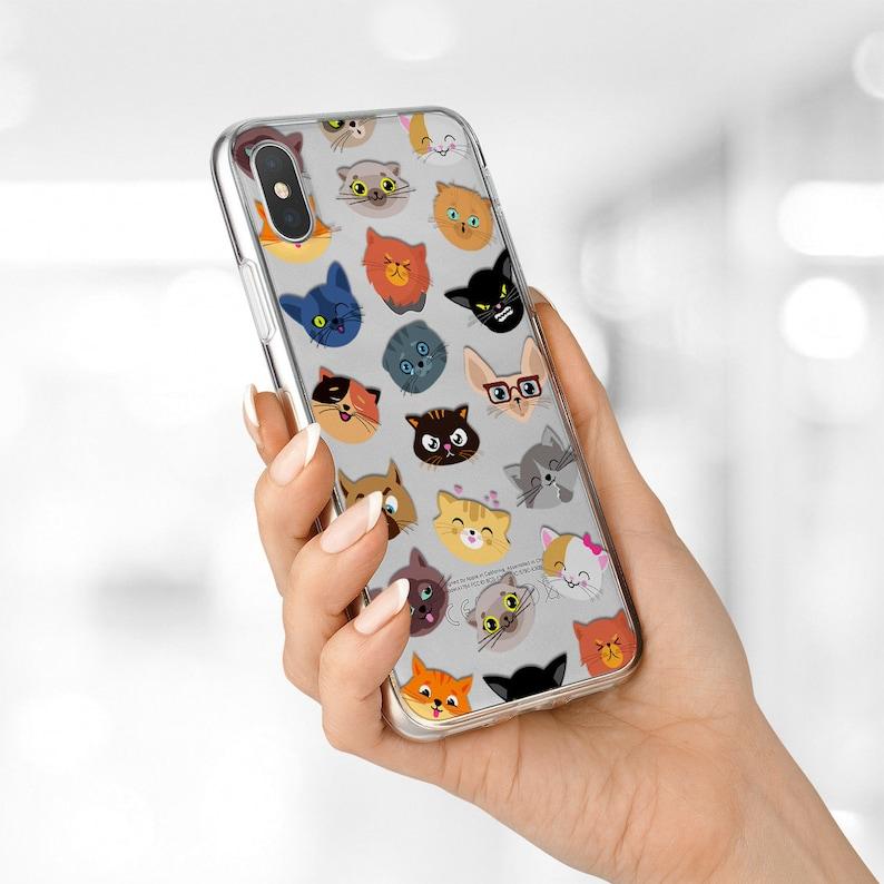 official photos 7cd36 eb1c8 iPhone X case Cat iPhone 8 plus case Cute Cat Galaxy A5 case clear OnePlus  6 case Funny Cat LG G7 Plus case Google Pixel XL case Phone case
