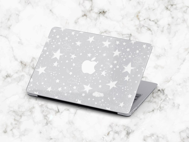 White Stars MacBook Pro 13 Case Mac Pro 13 inch Case MacBook Pro 15 Case MacBook Pro 15 inch Hard Case Starry MacBook Pro Retina 13 Cover