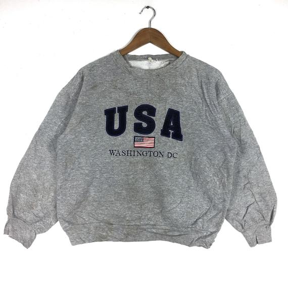 Vintage 90s USA WASHINGTON DC Big Logo Sweatshirt