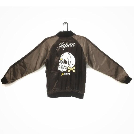 Vintage SUKAJAN JAPAN SATISFY Skull Bones Jacket S