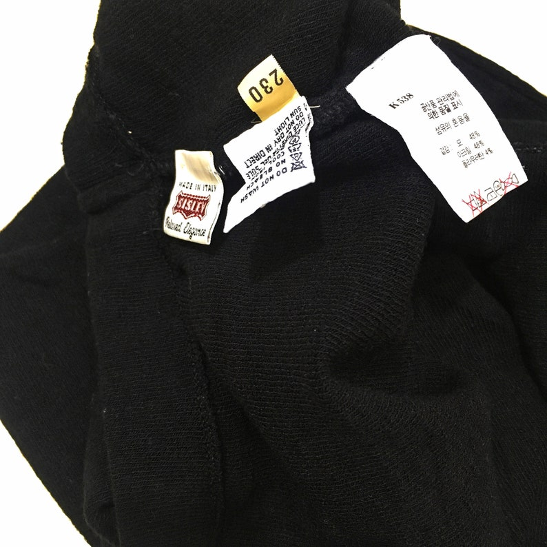 SISLEY United Colors Of Benetton Solid Black Tube Skirt Made In ITALY Pencil