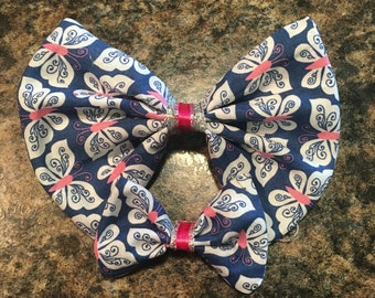 Blue and Pink Butterfly Bow