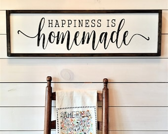 59f848dec Happiness is Homemade Farmhouse Sign