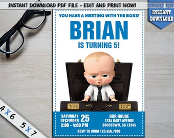 INSTANT DOWNLOAD_Boss Baby Invitation, The Boss Baby Birthday, Boss Baby Party, Boss Baby Printable, Boss Baby Invite, Boss Baby Movie, PDF