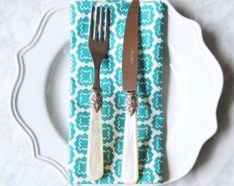 SET OF 4 Lisboa Jade napkins