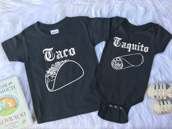 Sibling Outfit Taco and Taquito Outfits Brother Outfits Sister Outfits