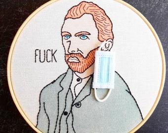Van Gogh Embroidery Hoop Art