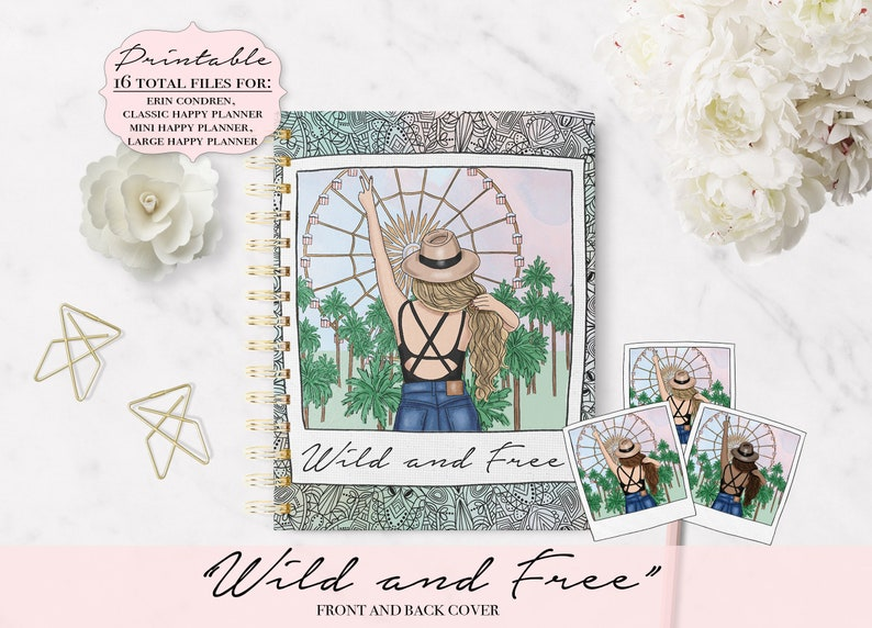 graphic about Planner Cover Printable named Wild and Free of charge Planner Addresses, Boho Planner Addresses, Printable Planner Address, Planner Handles, Printable Handles