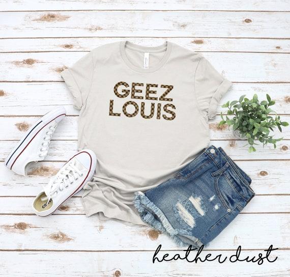 Geez Louis Unisex T-shirt Bleached Tee Designer Inspired Tee