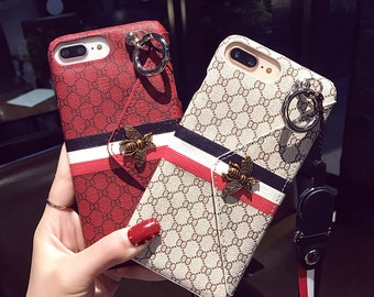 iphone 8 plus case gucci etsyfashion 3d bee wallet multifunction girl phone cover case for iphone x xs max xr 10 8 7 6 6s plus luxury pu leather coque fundas