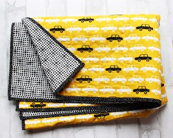 modern baby quilt - handmade baby quilt - crib bedding - car quilt - nursery decor - transportation nursery - kids room decor