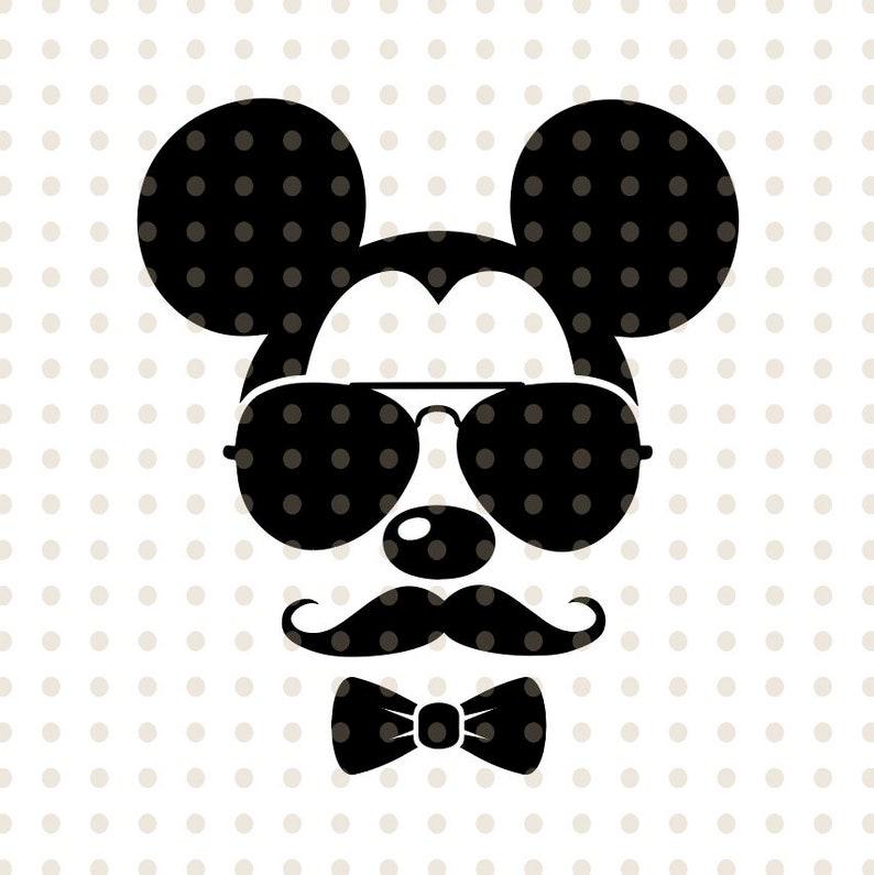 Disney Mickey Mouse sunglasses cricut silhouette Disney svg Mickey Mouse svg sunglasses files for Cutting Machines svg mustache silhouette