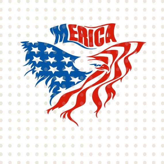 American Flag Eagle Svg America Svg Eagle Svg American Flag Etsy